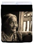 Filipino Lola - Image 14 Sepia Duvet Cover