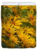 Filled With Sunflowers Vertical Duvet Cover