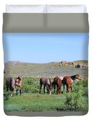 Fillies Day Out Duvet Cover