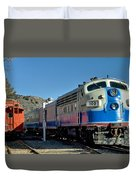 Fillmore And Western Railway Christmas Train 2 Duvet Cover