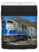 Fillmore And Western Railway Christmas Train 3 Duvet Cover