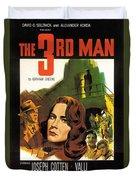 Film Noir Poster  The Third Man Duvet Cover