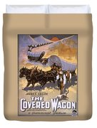 Film: The Covered Wagon Duvet Cover