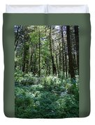 Filtered Forest Sunlight In Oregon Duvet Cover