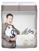 Finance And Money Growth Concept Duvet Cover