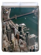 Financial District Nyc Aerial Photo Duvet Cover