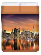 Financial District Sunset Duvet Cover