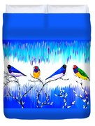 Finches Duvet Cover