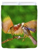 Finches In Motion I  Duvet Cover
