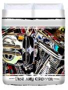 Fine Art Chopper II Duvet Cover