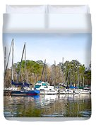Fine Day To Sail - Illustration Style  Duvet Cover