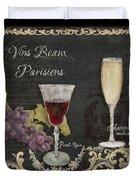 Fine French Wines - Vins Beaux Parisiens Duvet Cover