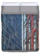 Fine Line Between Buildings Duvet Cover