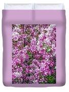 Fine Wine Cafe Apple Blossoms Duvet Cover