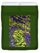 Fine Wine Cafe Colorful Garden Duvet Cover