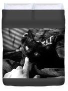 Finger Kiss Cat Duvet Cover