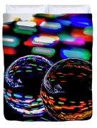 Finger Light Painted Glass Ball Abstract Duvet Cover