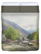 Fingle Bridge On The Teign Duvet Cover