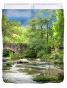 Fingle Bridge - P4a16007 Duvet Cover