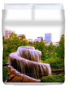 Finlay Park Fountain Summertime Duvet Cover