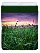 Finn Line Grass Duvet Cover