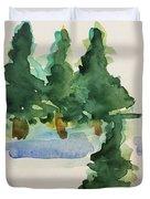 Fir Trees Duvet Cover