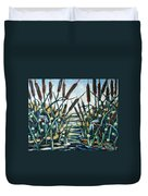 Fire And Dragonflies Duvet Cover