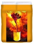 Fire And Flower Duvet Cover