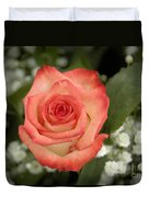 Fire And Ice Rose Duvet Cover