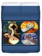 Fire And Ice Slither Collage Duvet Cover