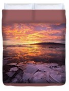 Fire And Ice Duvet Cover by Wesley Aston