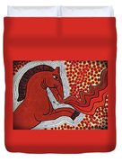 Fire Breathing Horse Duvet Cover