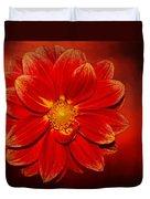 Fire Dahlia By Kaye Menner Duvet Cover
