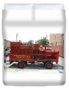 Fire Engine Of Older Years  Duvet Cover