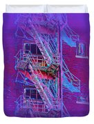 Fire Escape 4 Duvet Cover