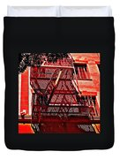 Fire Escape Duvet Cover