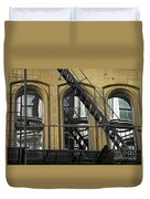 Fire Escape On Franklin Street Duvet Cover