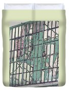 Fire Escape Reflection Duvet Cover