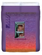 Fire Escape Window 2 Duvet Cover