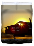 Fire Fighting Aircraft Duvet Cover