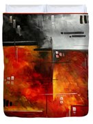 Fire Hazard Original Madart Painting Duvet Cover