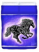 Fire Horse 2 Duvet Cover