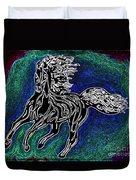Fire Horse Burn 3 Duvet Cover