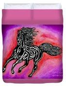 Fire Horse Burn 4 Duvet Cover