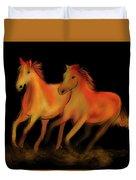 Fire Horses Duvet Cover