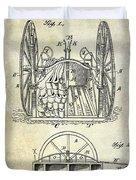 Fire Hose Cart Patent Duvet Cover