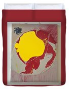 Fire Hydrant Crab Rocket Duvet Cover