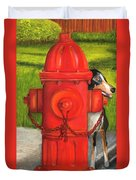 Fire Hydrant Dog Duvet Cover