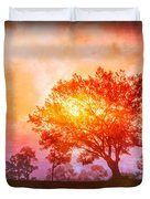 Fire In The Trees Duvet Cover