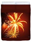 Fire In The Trees Duvet Cover by Phill Doherty